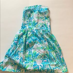 Lilly Pulitzer strapless dress worn once